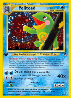 Politoed card for Neo Discovery