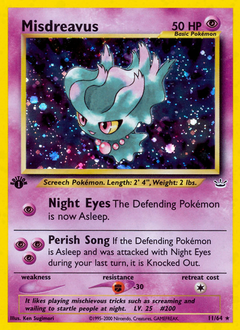 Misdreavus card for Neo Revelation