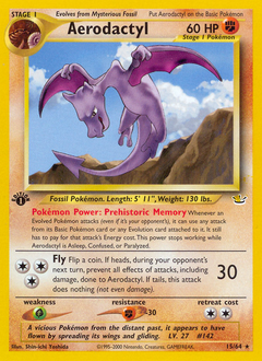 Aerodactyl card for Neo Revelation