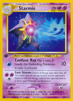 Starmie card for Neo Revelation