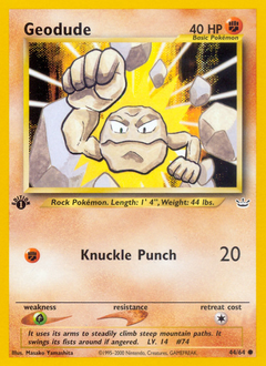 Geodude card for Neo Revelation