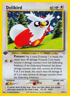 Delibird card for Neo Revelation
