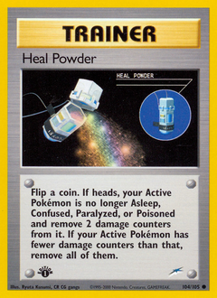 Heal Powder card for Neo Destiny
