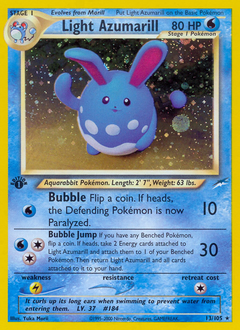 Light Azumarill card for Neo Destiny