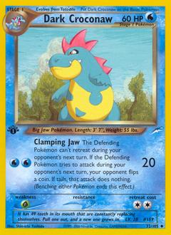 Dark Croconaw card for Neo Destiny