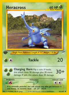 Heracross card for Neo Destiny