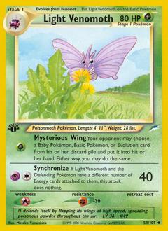 Light Venomoth card for Neo Destiny