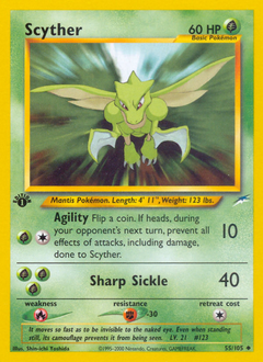 Scyther card for Neo Destiny