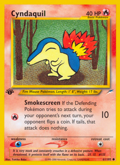 Cyndaquil card for Neo Destiny