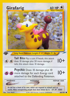 Girafarig card for Neo Destiny