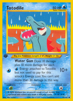 Totodile card for Neo Destiny