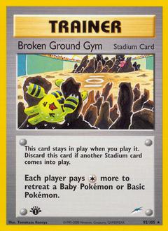 Broken Ground Gym card for Neo Destiny