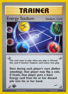 Energy Stadium card for Neo Destiny