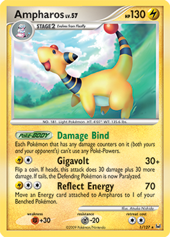 Ampharos card for Platinum