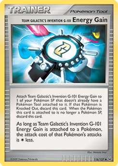 Team Galactic's Invention G-101 Energy Gain