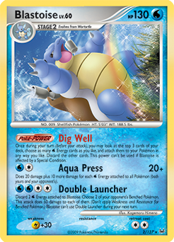 Blastoise card for Platinum