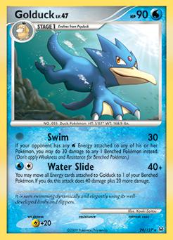 Golduck card for Platinum