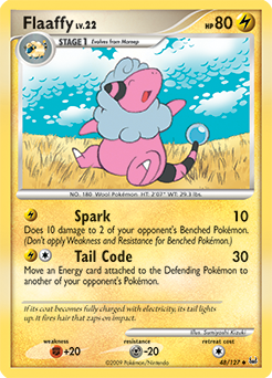 Flaaffy card for Platinum