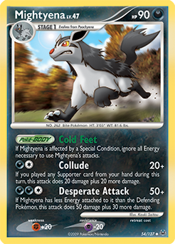 Mightyena card for Platinum