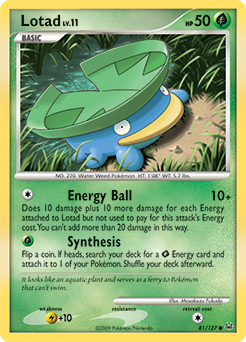 Lotad card for Platinum