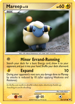 Mareep card for Platinum