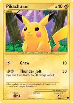 Pikachu card for Rising Rivals