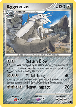 Aggron card for Rising Rivals