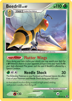Beedrill card for Rising Rivals