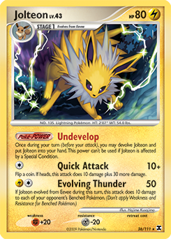 Jolteon card for Rising Rivals