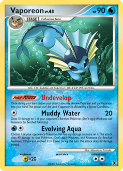 Vaporeon card for Rising Rivals