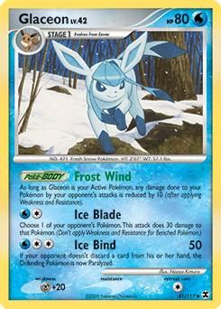 Glaceon card for Rising Rivals