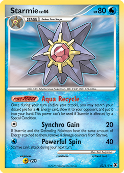 Starmie card for Rising Rivals