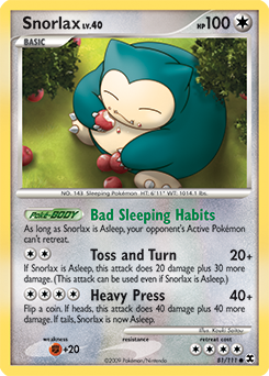 Snorlax card for Rising Rivals