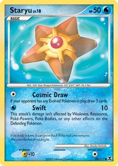 Staryu card for Rising Rivals