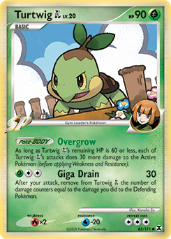 Turtwig GL card for Rising Rivals
