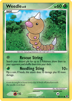 Weedle card for Rising Rivals