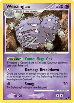 Weezing card for Rising Rivals