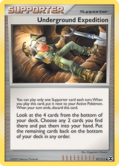 Underground Expedition card for Rising Rivals