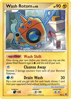 Wash Rotom card for Rising Rivals
