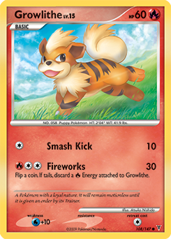 Growlithe card for Supreme Victors