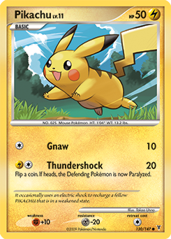 Pikachu card for Supreme Victors