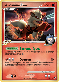 Arcanine G card for Supreme Victors