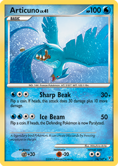 Articuno card for Supreme Victors