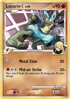 Lucario C card for Supreme Victors