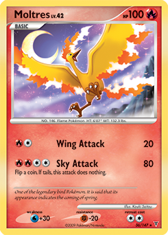 Moltres card for Supreme Victors