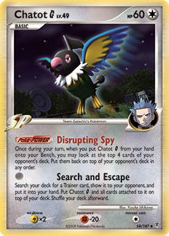 Chatot G card for Supreme Victors