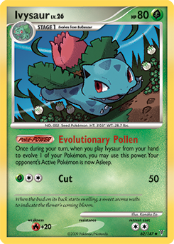Ivysaur card for Supreme Victors
