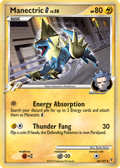 Manectric G card for Supreme Victors