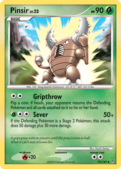 Pinsir card for Supreme Victors