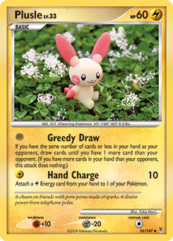 Plusle card for Supreme Victors